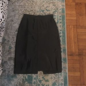 Dresses & Skirts - Black leather skirt, size 4.